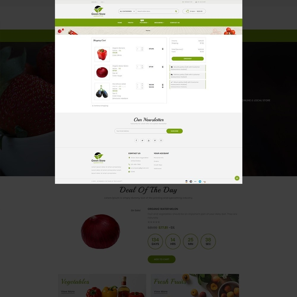theme - Eten & Restaurant - Greenstore – Multipurpose Vegetable Store - 14