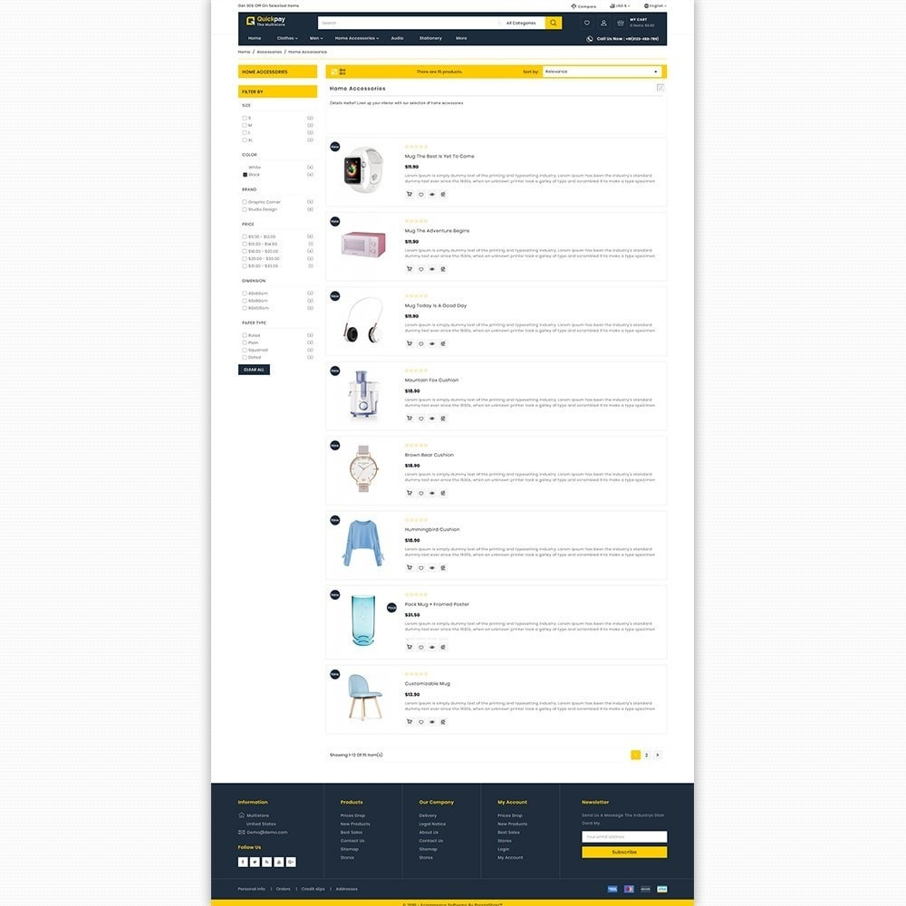 theme - Electronique & High Tech - Quickpay - The MultiStore Theme - 4