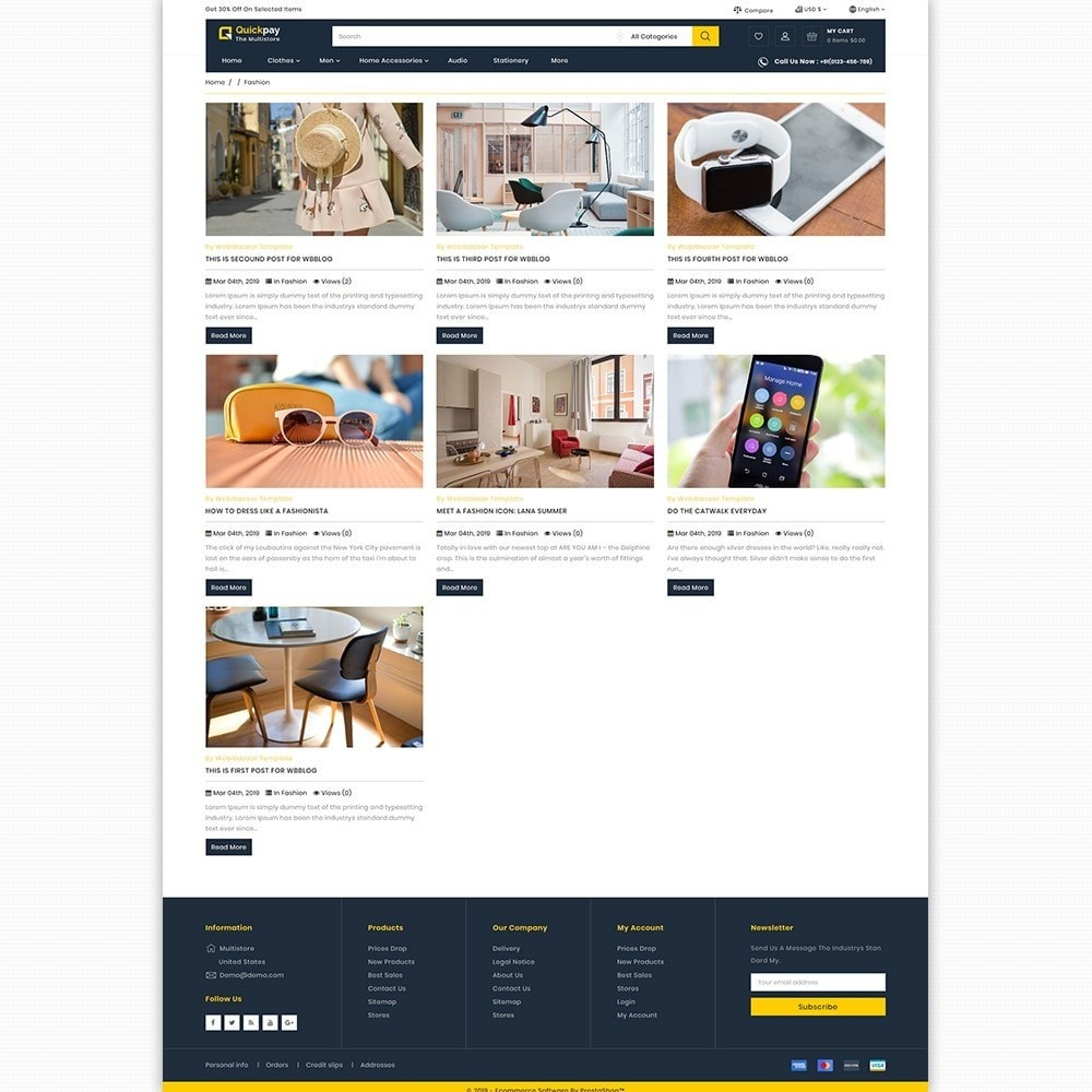 theme - Elektronika & High Tech - Quickpay - The MultiStore Theme - 6