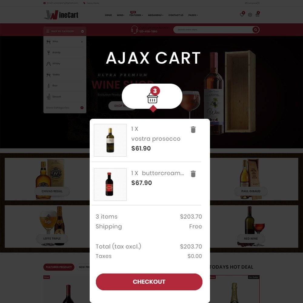 theme - Drink & Wine - Wine cart– Multipurpose Mega Wine Store - 5