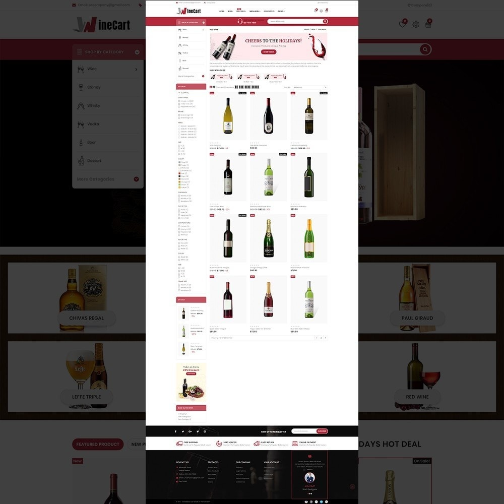 theme - Getränke & Tabak - Wine cart– Multipurpose Mega Wine Store - 11