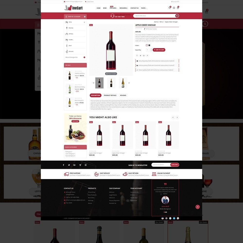 theme - Getränke & Tabak - Wine cart– Multipurpose Mega Wine Store - 13