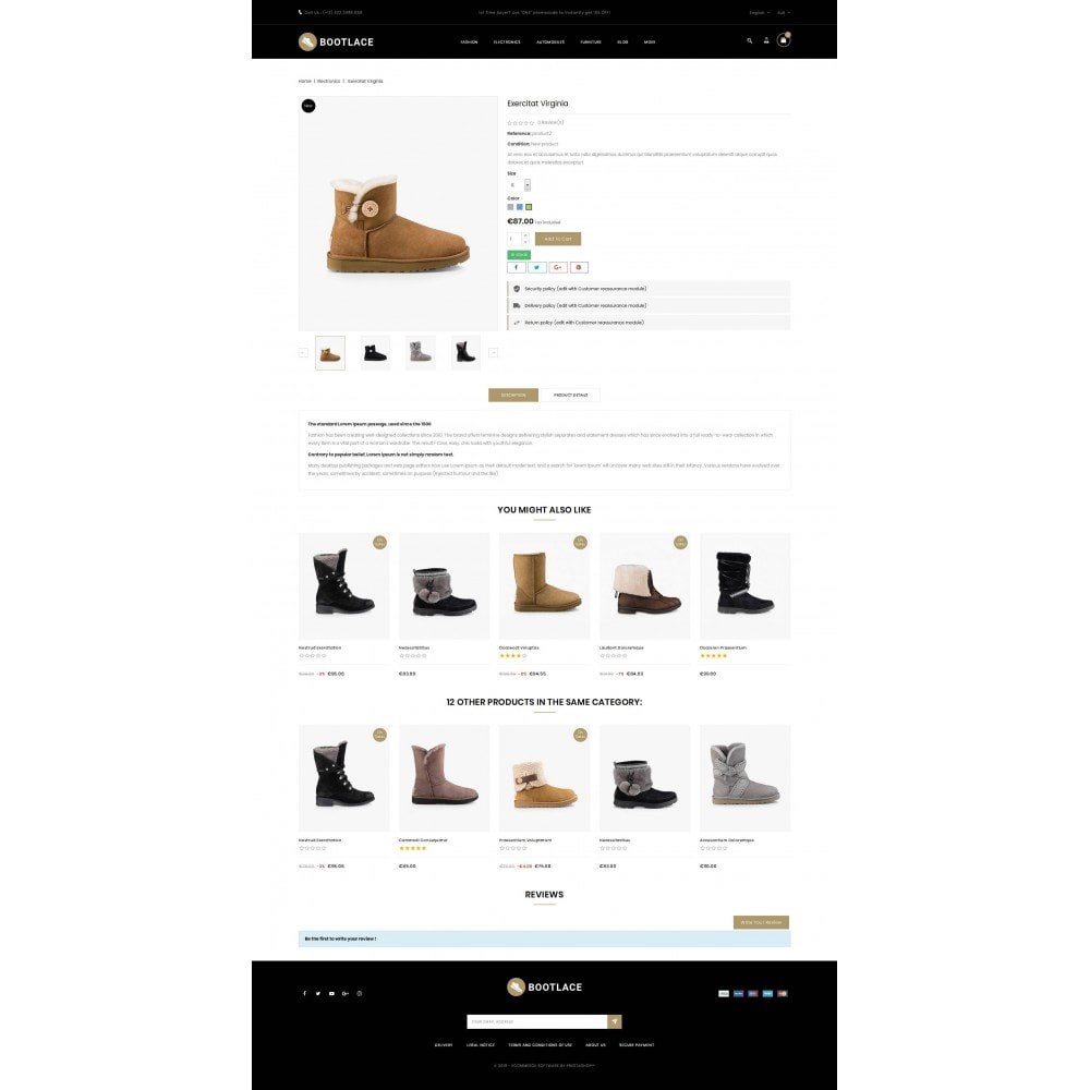 theme - Mode & Schoenen - Bootlace  - Shoes Store - 5