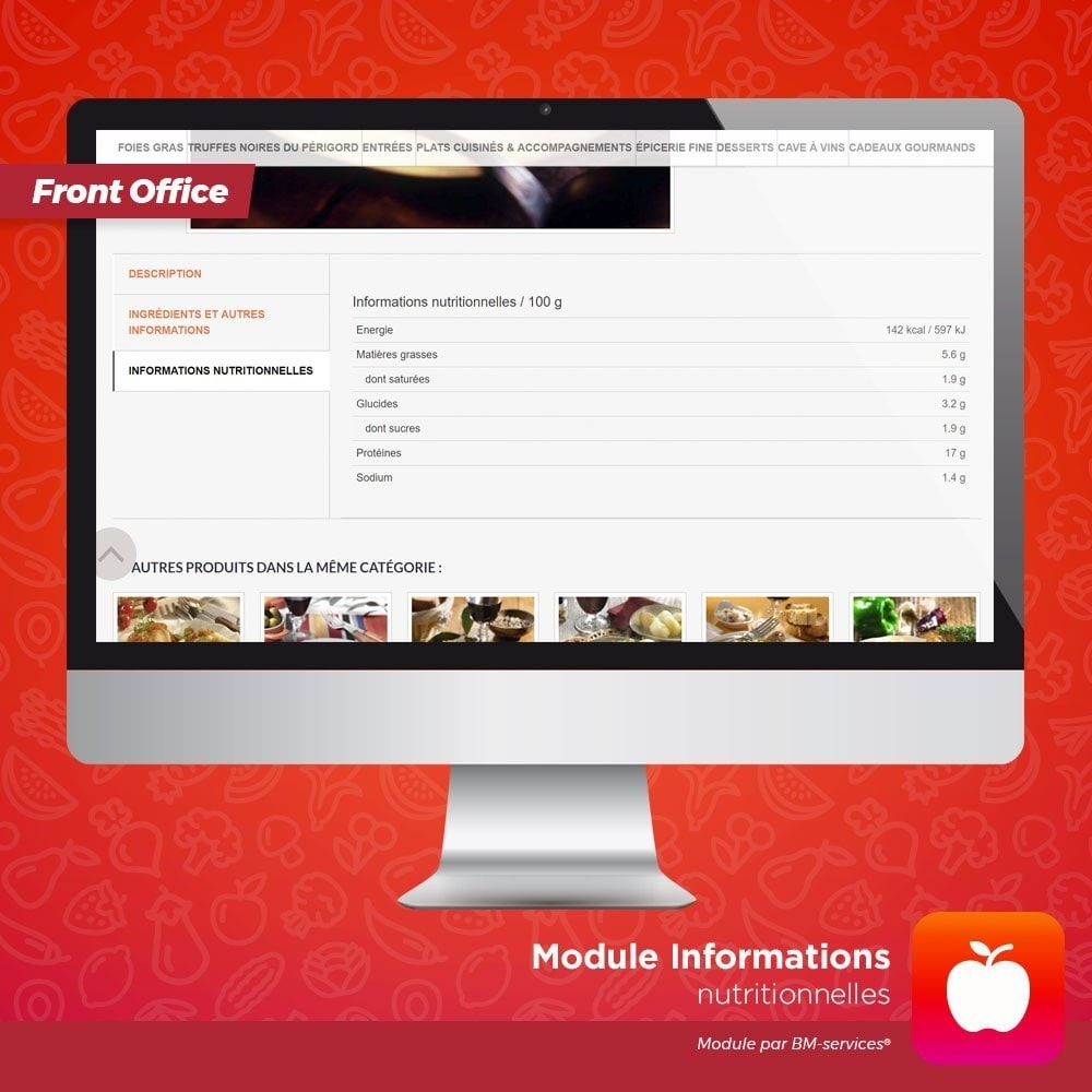 module - Alimentation & Restaurants - Informations nutritionnelles - 2