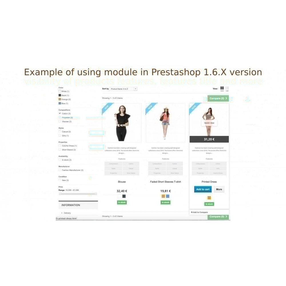 module - Information supplémentaire & Onglet produit - Afficher produit propriétés ou descriptions á la liste - 6