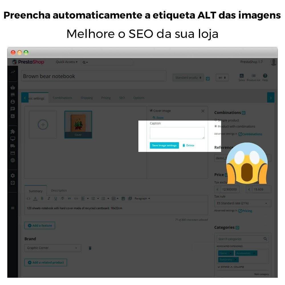 module - SEO (Referenciamento natural) - Tag ALT de imagem automática - SEO em imagem - 2