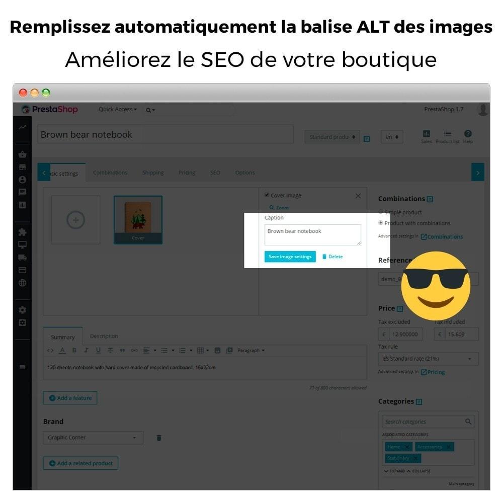 module - SEO (référencement naturel) - Image SEO - Balise d'image automatique ALT - 3