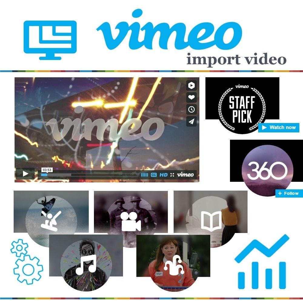 module - Видеоролики и Музыка - Адаптивный Vimeo видео блок. Главная, продукт, колонка. - 1