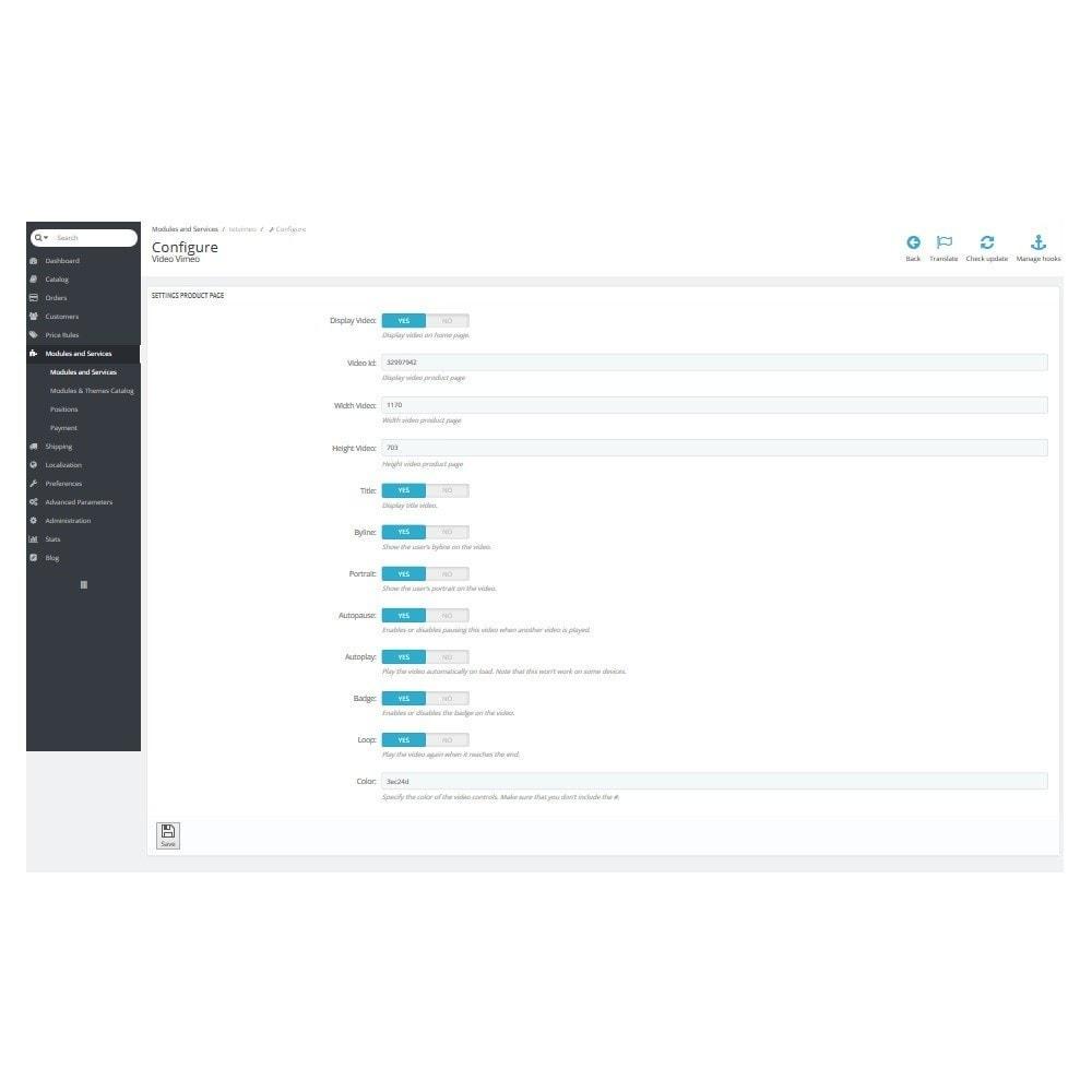 module - Видеоролики и Музыка - Адаптивный Vimeo видео блок. Главная, продукт, колонка. - 7