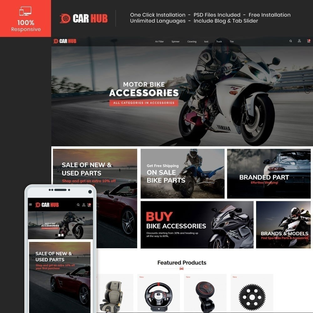 theme - Automotive & Cars - Car- Auto Store - 1