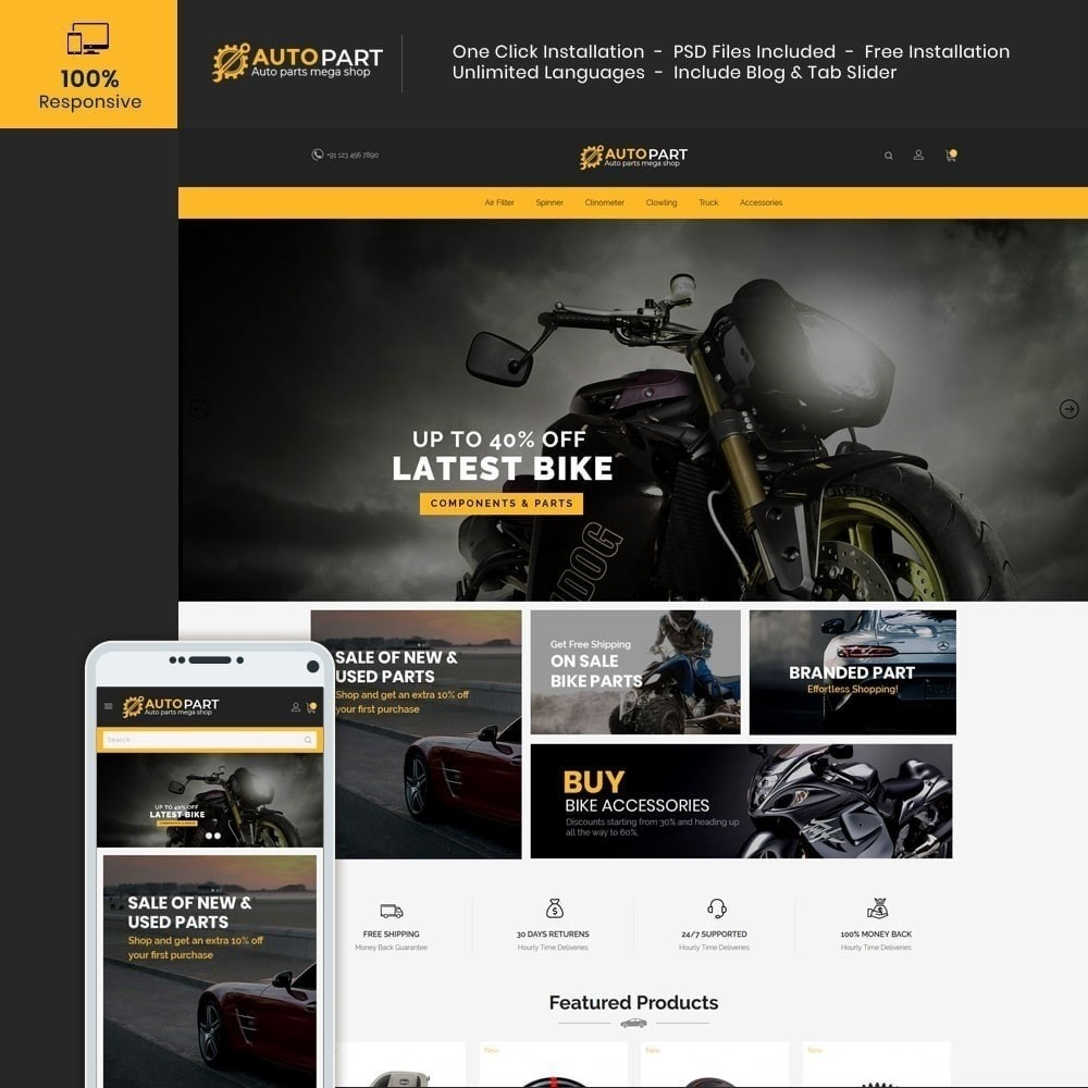 theme - Auto & Moto - Autoparts Car - Magasin d'outils Auto - 1