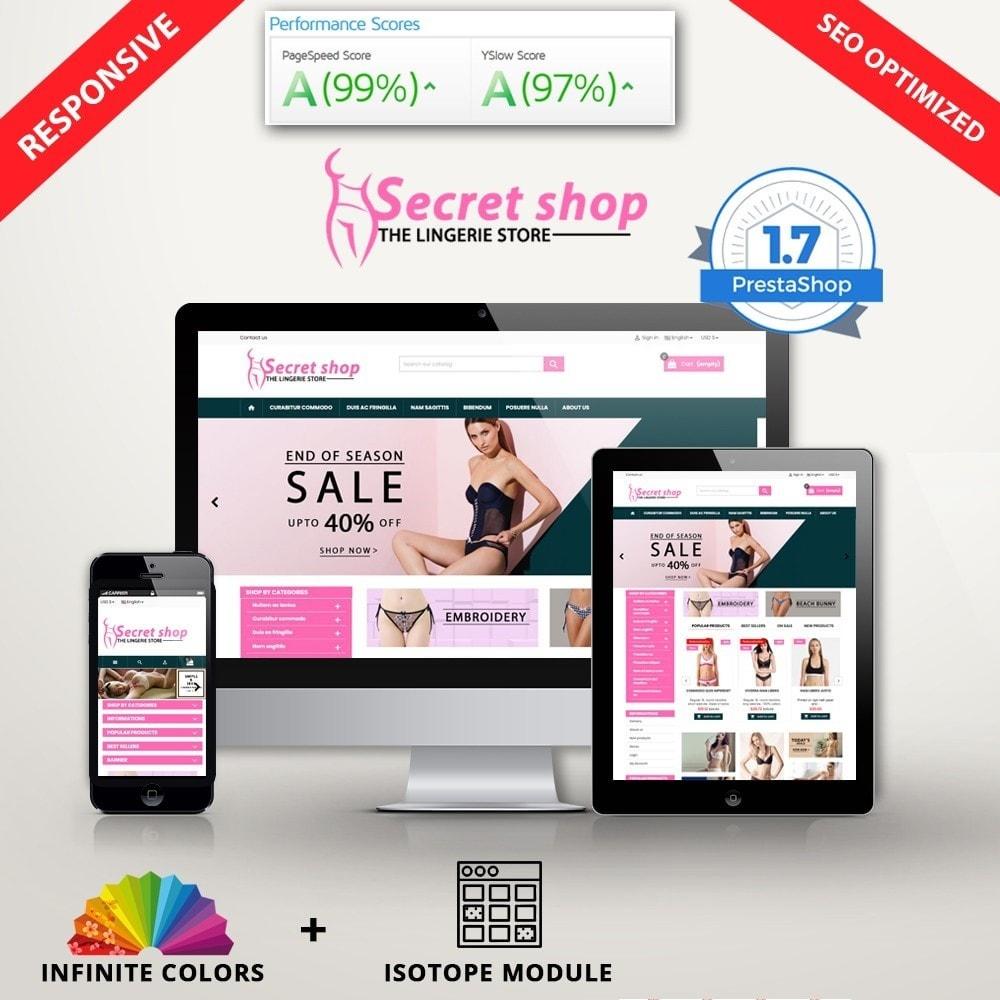 theme - Lingerie & Volwassenen - Secretshop - Lingerie premium template - 1