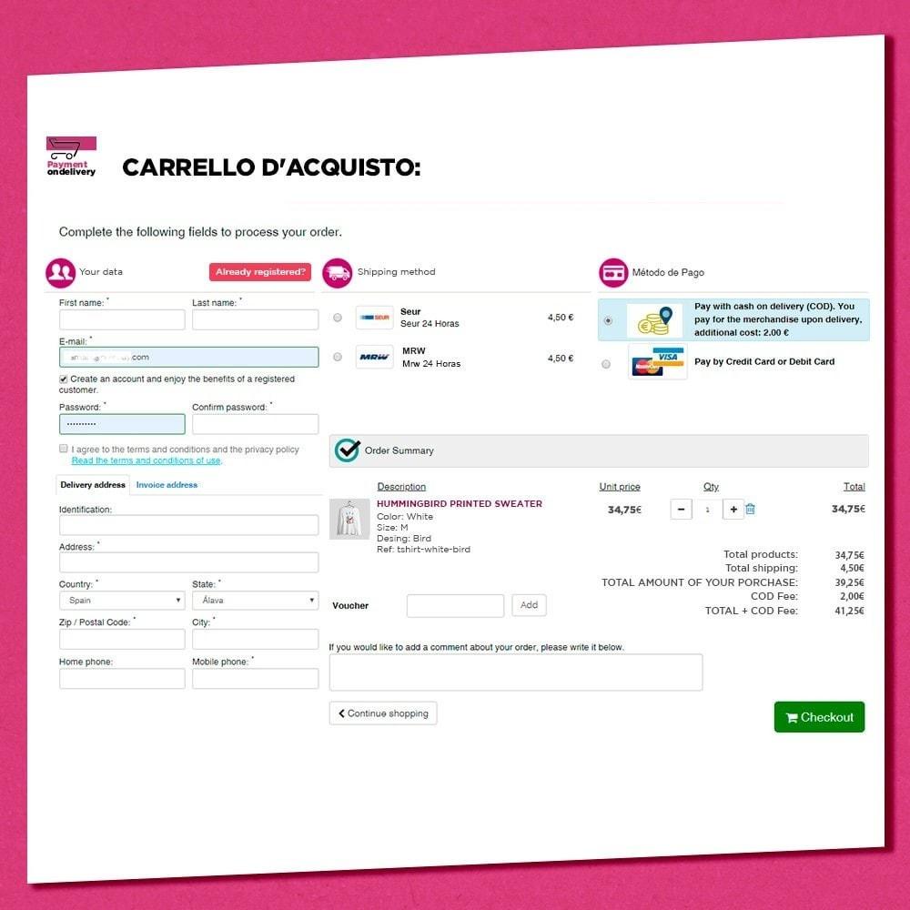 module - Pagamento alla Consegna (in contrassegno) - Pagamento alla consegna con commissioni - 1
