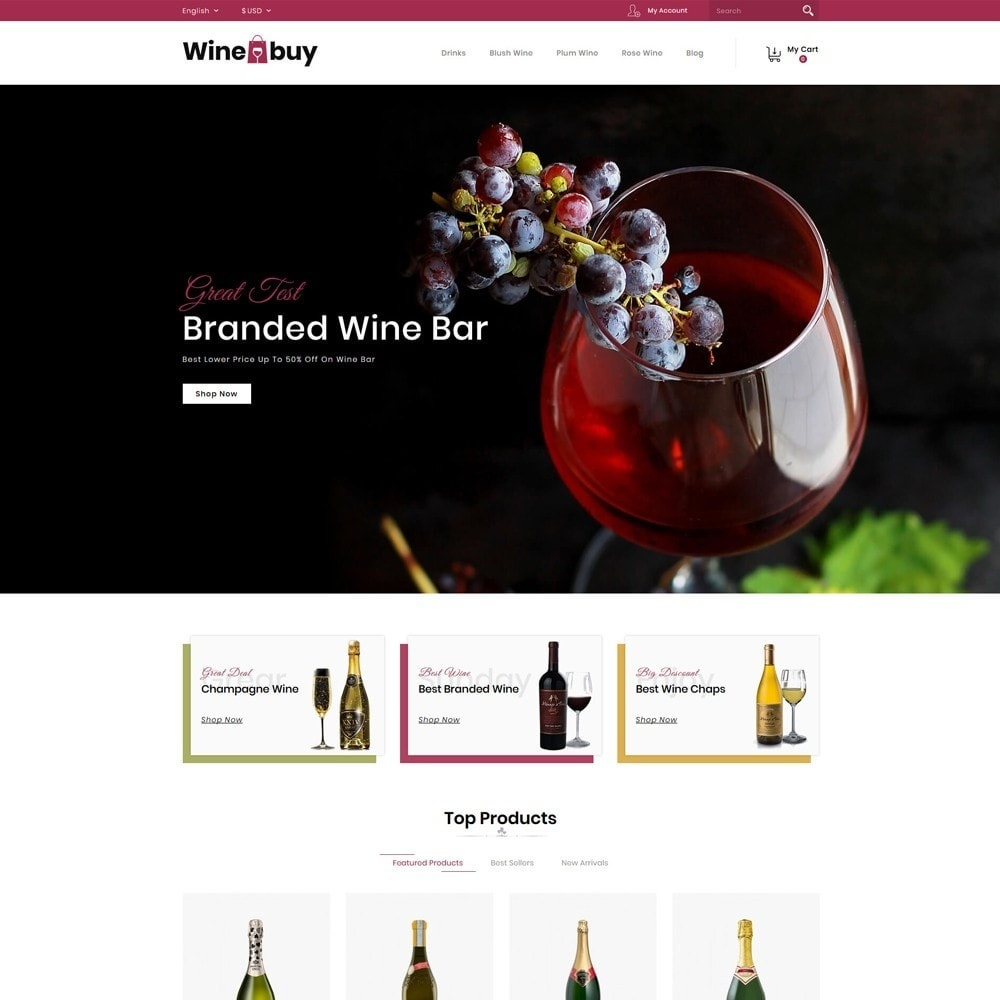 theme - Boissons & Tabac - Wine buy Store - 2