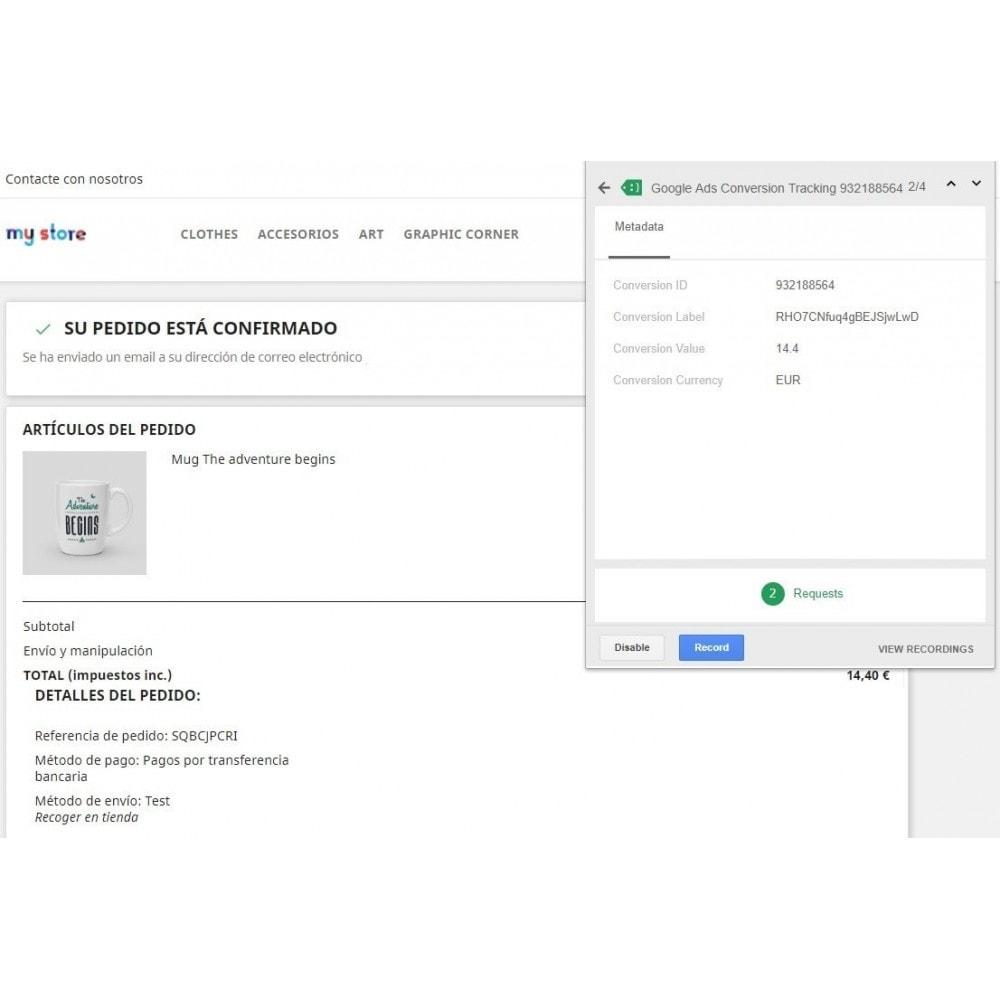 module - Informes y Estadísticas - Conversiones Analytics, Adwords, Pixel y Rmkt (gtag.js) - 5