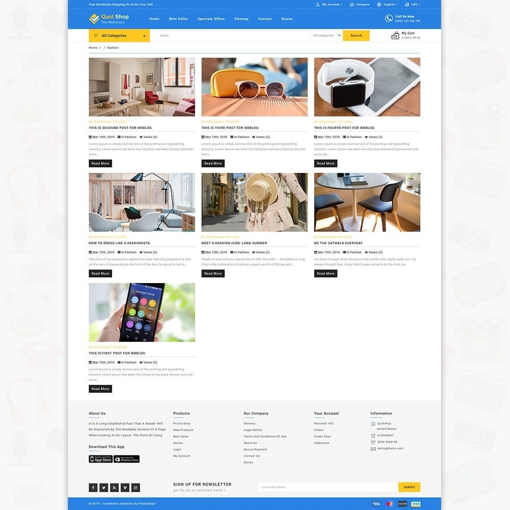 theme - Electronics & Computers - QuidShop - The Best MultiStore Theme - 6