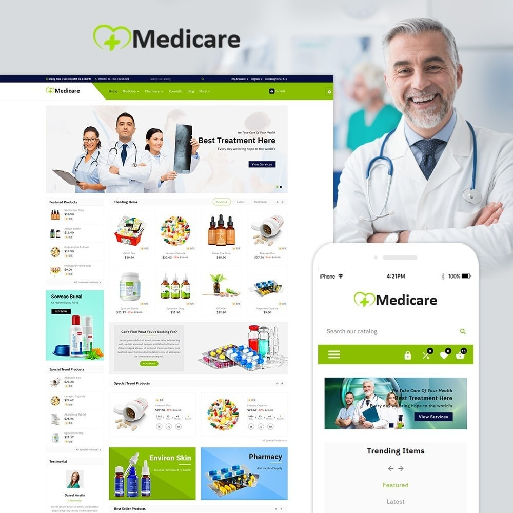 theme - Salud y Belleza - Medicare Medical and Drug Store - 1