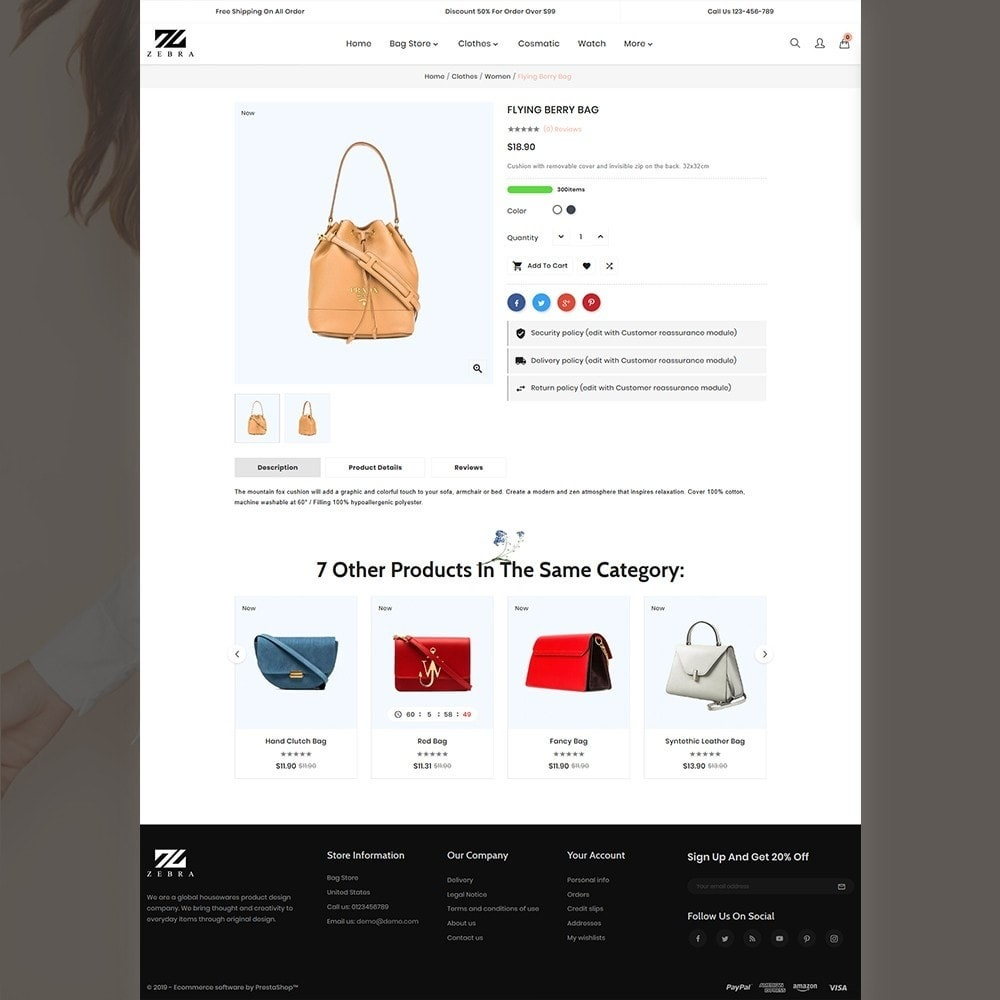 theme - Mode & Chaussures - Zebra Fashion Full Responsive Store - 4