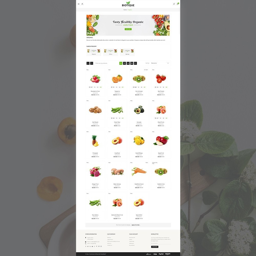 theme - Food & Restaurant - Biotique Organic–Grocery Food–Drink Multistore Store - 3