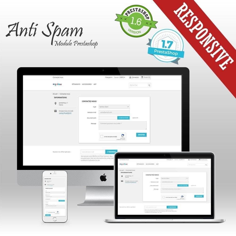 module - Security & Access - Anti Spam - Spam blocker and reCaptcha - 1