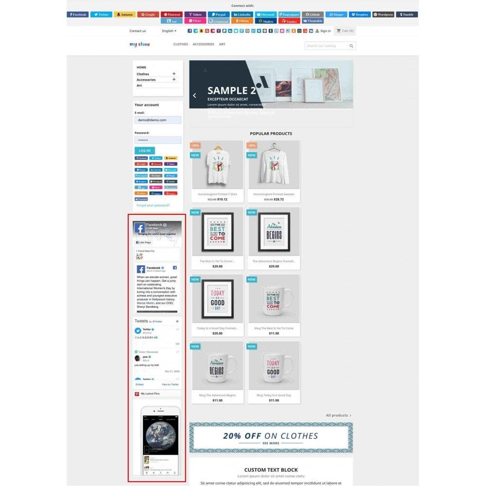 module - Boutons Login & Connect - Social Pack: Connexions, Parrainages, Plugins (34 en 1) - 15