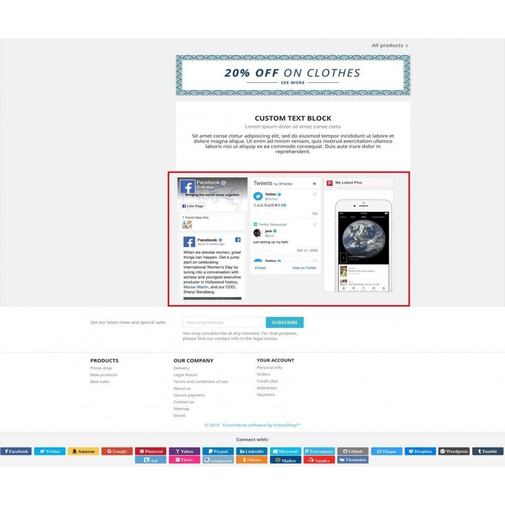 module - Boutons Login & Connect - Social Pack: Connexions, Parrainages, Plugins (34 en 1) - 16