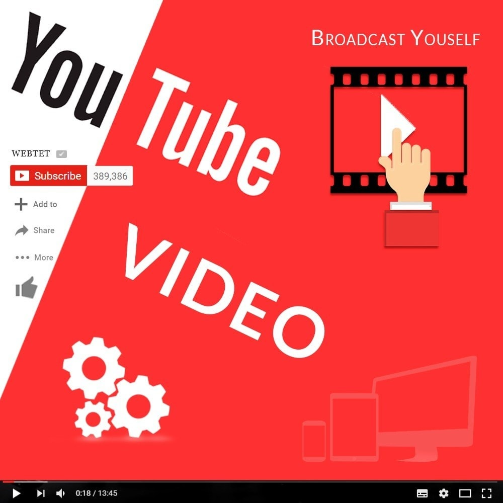 module - Видеоролики и Музыка - Адаптивное видео Youtube. Главная, страница продукта - 1