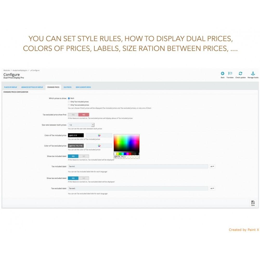 module - Preisverwaltung - Duale Darstellung von Preisen mit und ohne Steuer - 9