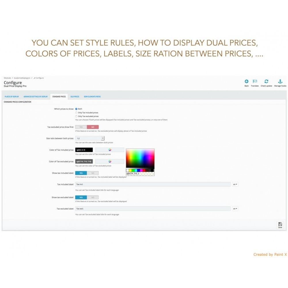 module - Zarządzanie cenami - Zaawansowane podwójne pokazanie cen z podatkiem i bez - 9