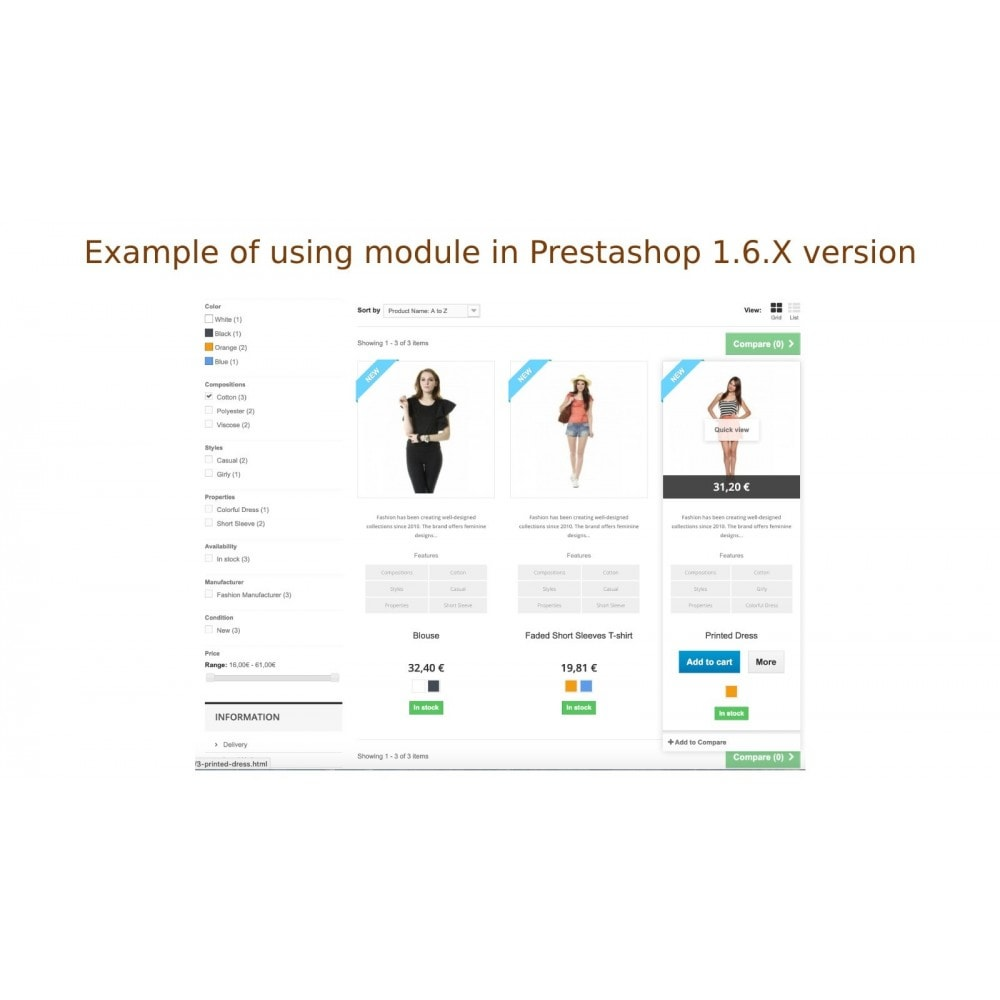 module - Dodatkowe informacje & Zakładka produktu - Pokazanie cech albo opisów produktów w spisie produktów - 6