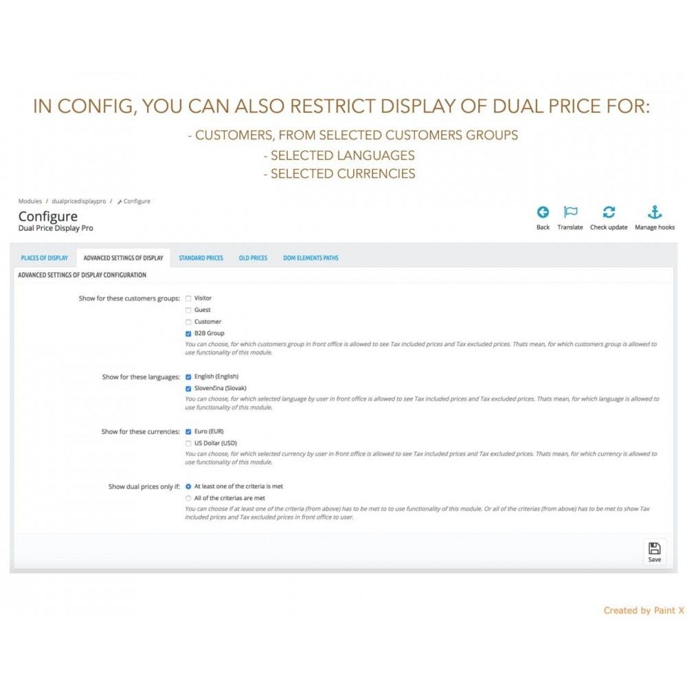 module - Gestión de Precios - Visualización dual de precios con/sin impuesto - 8