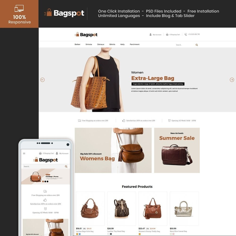 theme - Moda & Obuwie - Bagspot - Bag Fashion Store - 1