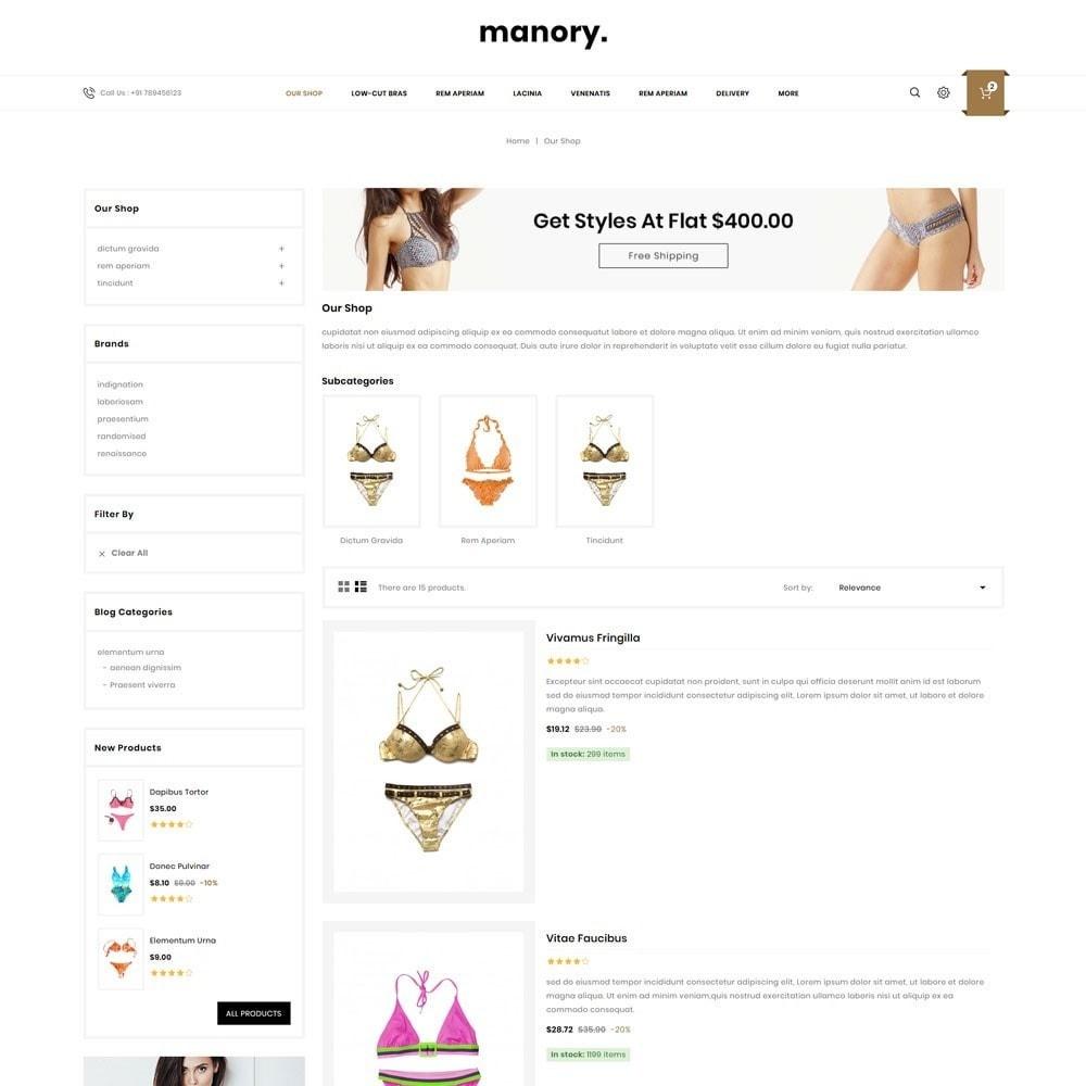 theme - Нижнее белье и товары для взрослых - Manory - The Lingerie Shop - 5