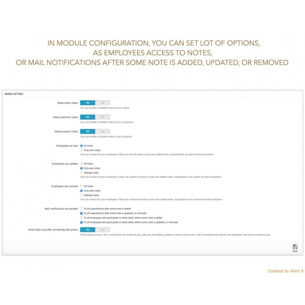 module - Inscripción y Proceso del pedido - Las notas para pedidos, productos y clientes - 4