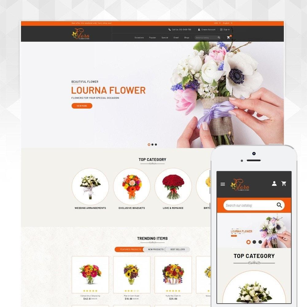 theme - Presentes, Flores & Comemorações - Flora - Flower Store - 1