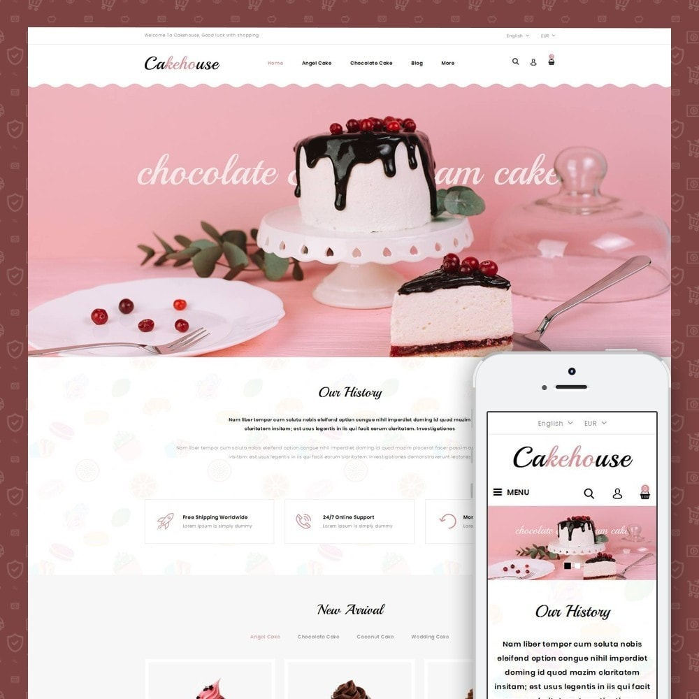theme - Food & Restaurant - Cackehouse -  Sweet Cake Store - 1