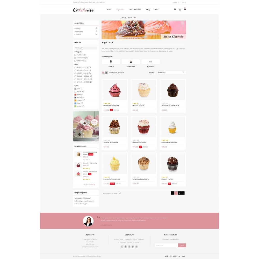theme - Food & Restaurant - Cackehouse -  Sweet Cake Store - 3