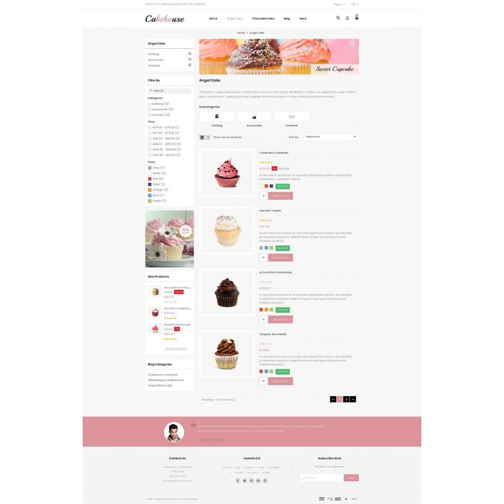 theme - Food & Restaurant - Cackehouse -  Sweet Cake Store - 4