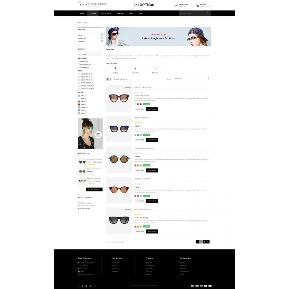 theme - Ювелирные изделия и Аксессуары - Optical - Goggles Store - 4