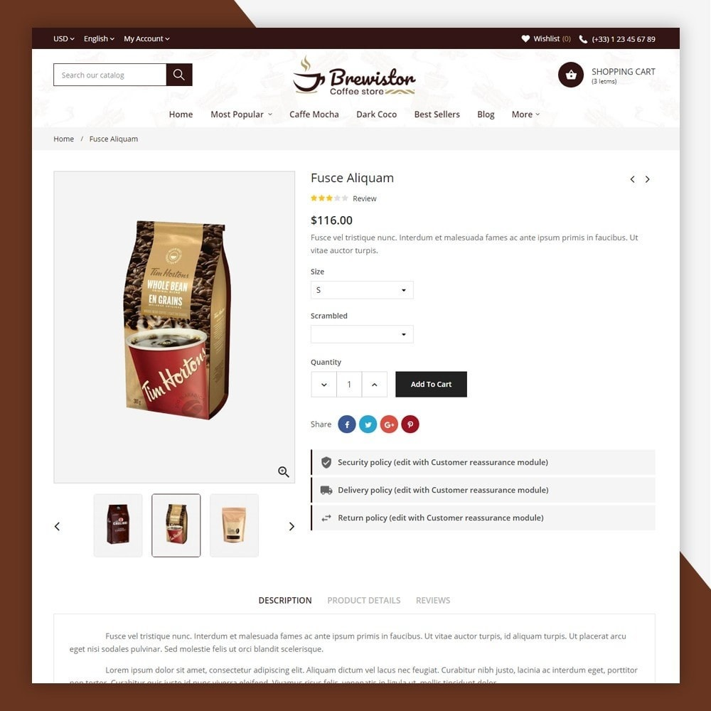 theme - Alimentos & Restaurantes - Brewistor - Coffee Store - 7