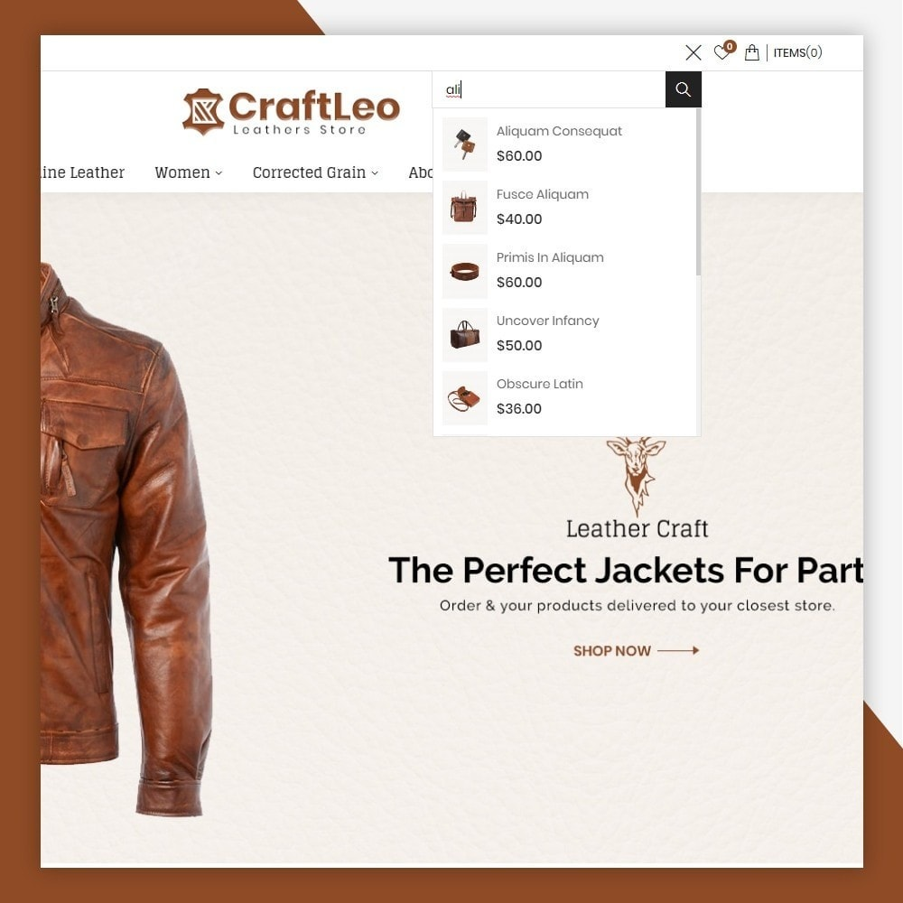 theme - Moda & Obuwie - CraftLeo - Leather Fashions Store - 3