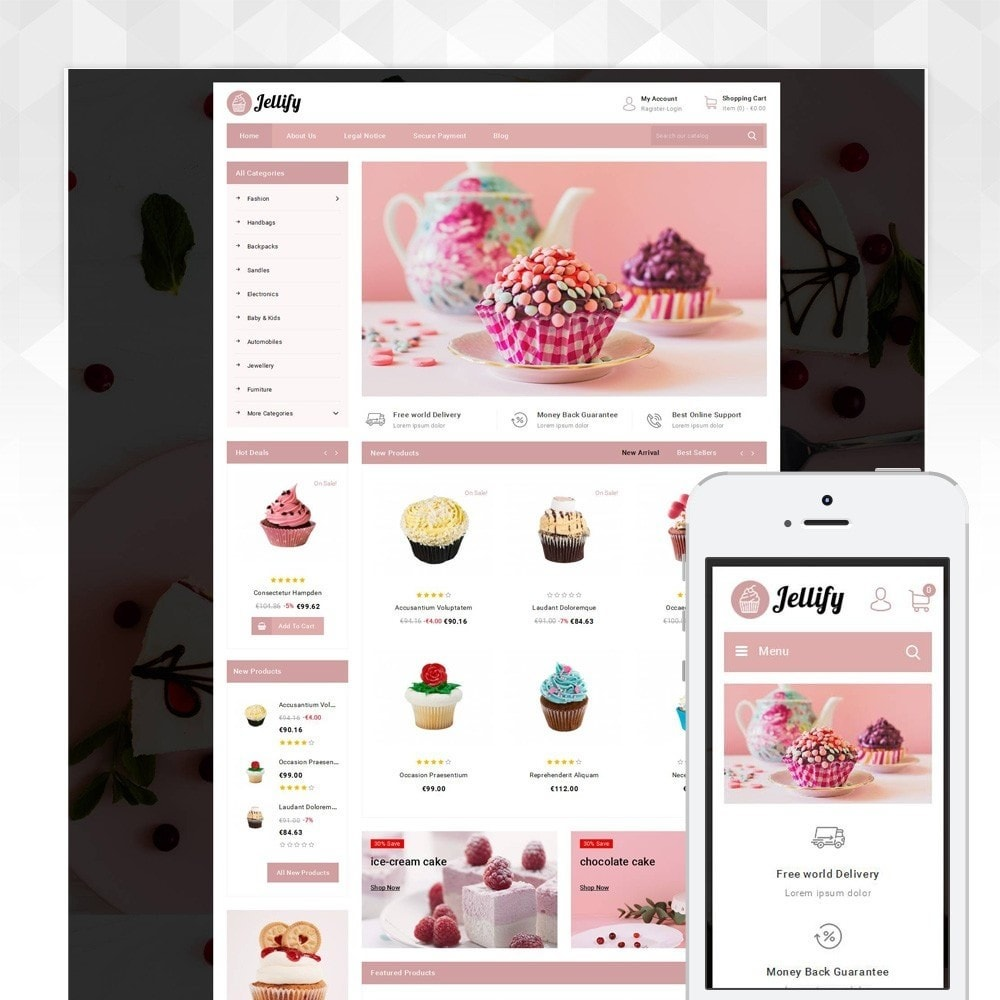 theme - Alimentos & Restaurantes - Jellify - Bakery Store - 1