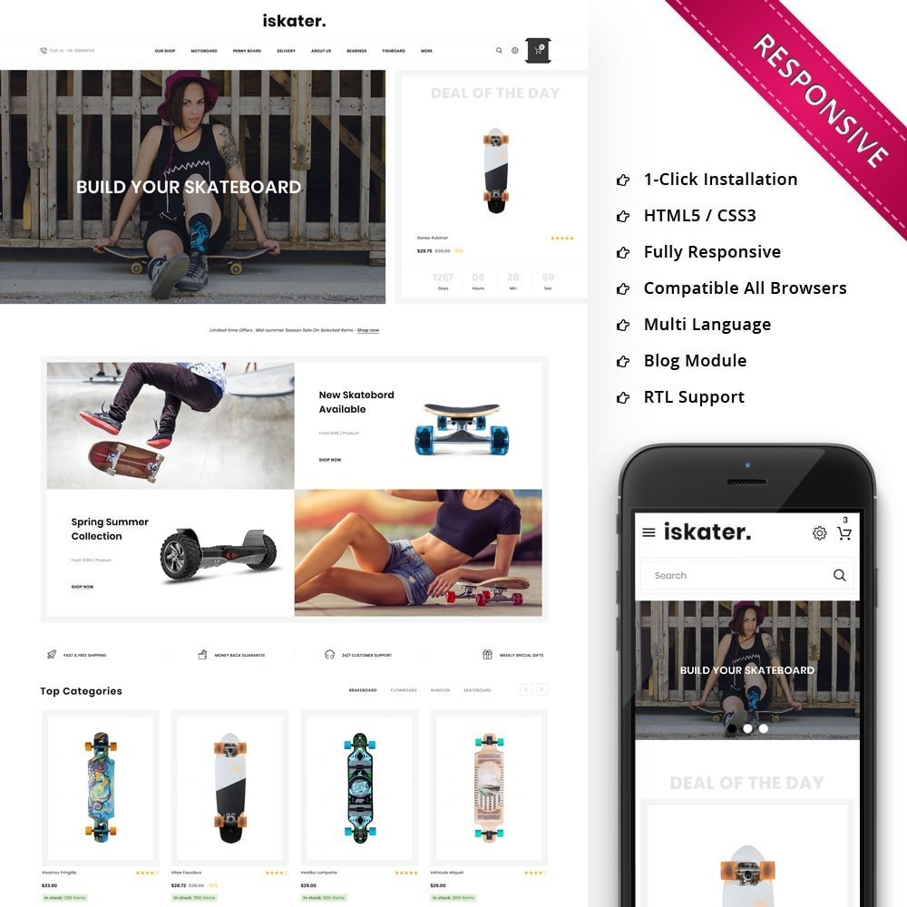 theme - Sports, Activities & Travel - Iskater - The Sport Shop - 1
