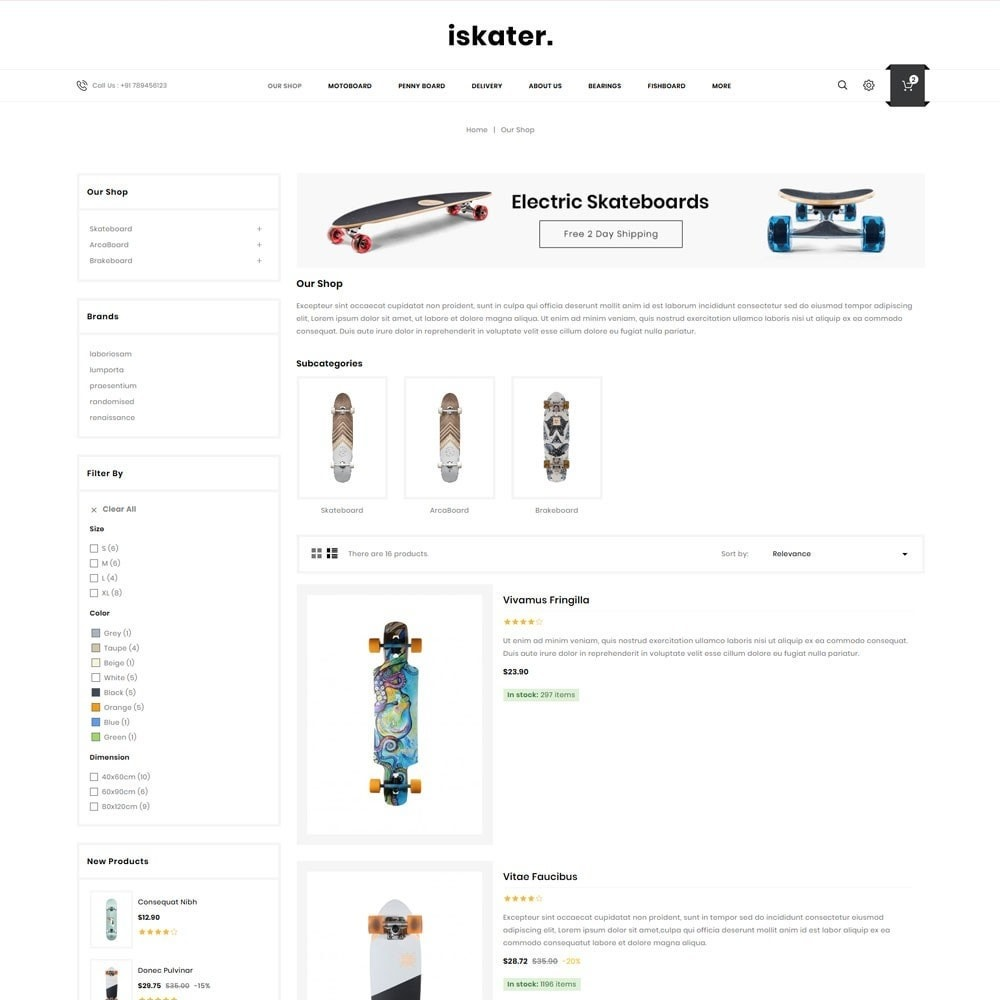 theme - Sports, Activities & Travel - Iskater - The Sport Shop - 5