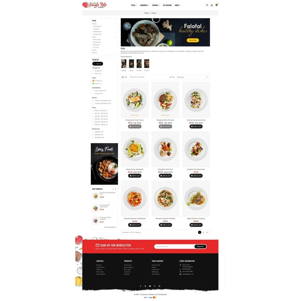 theme - Продовольствие и рестораны - Tomato Bite - Delicious Food - 3
