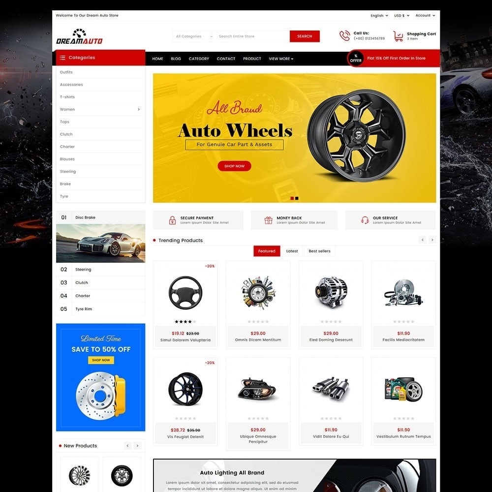 theme - Automotive & Cars - Dream Auto - 2