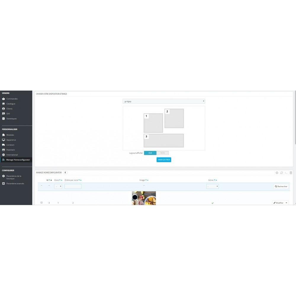 module - Personnalisation de Page - Configuration de page d'accueil-Gestionnaire de layouts - 2