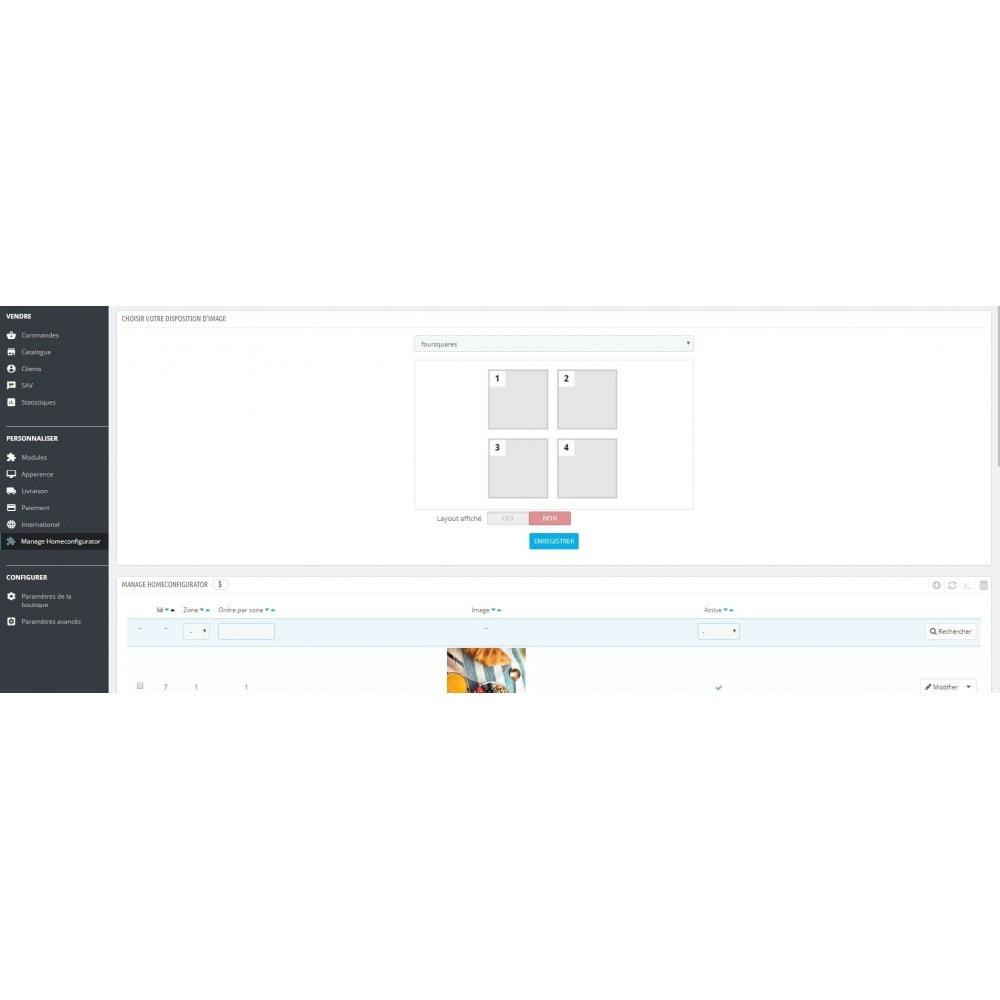 module - Personnalisation de Page - Configuration de page d'accueil-Gestionnaire de layouts - 4