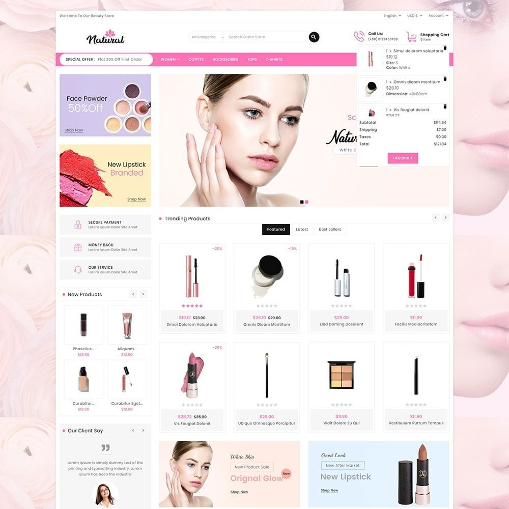 theme - Health & Beauty - Natural Cosmetics - 3