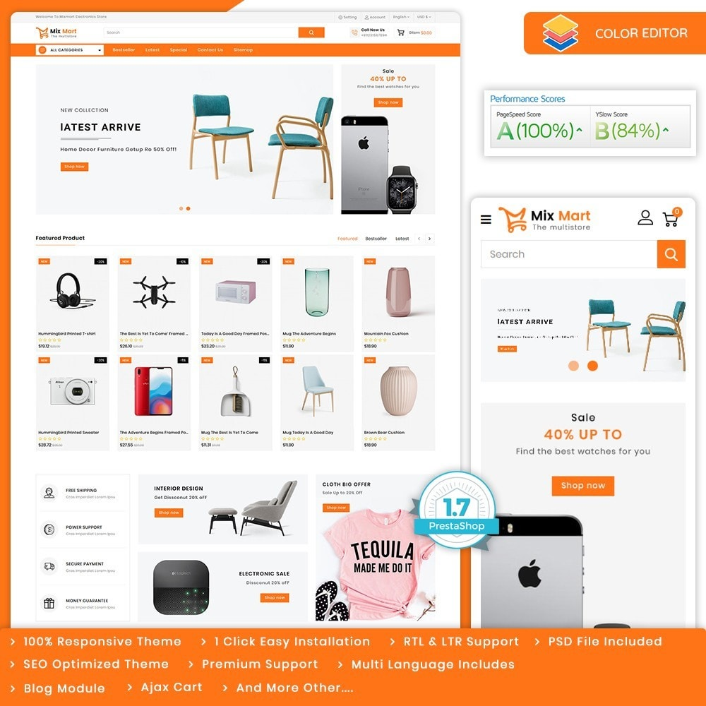 theme - Electronics & Computers - Mixmart - The MultiStore Theme - 1